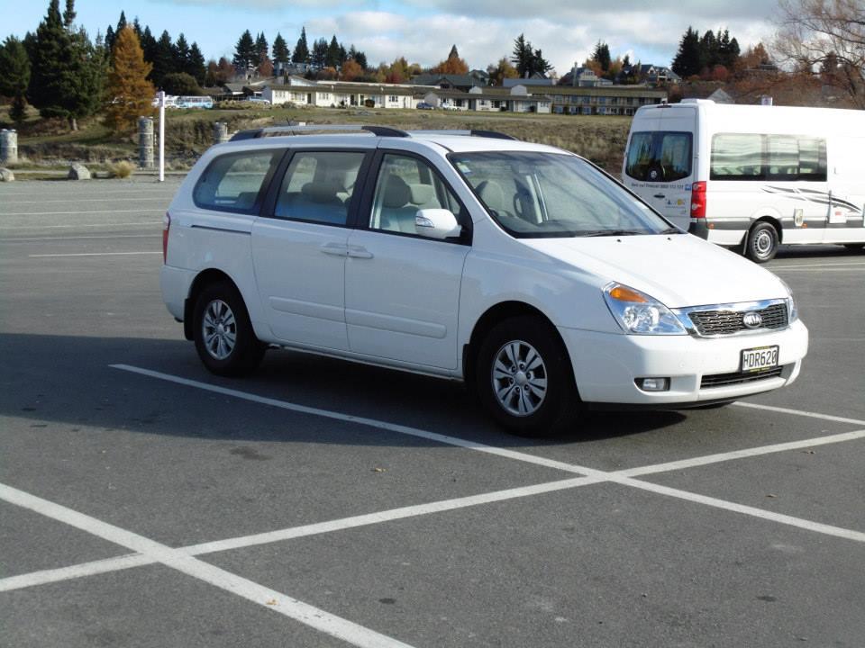 My car at the car park at Lake Tekapo, South Island, New Zealand