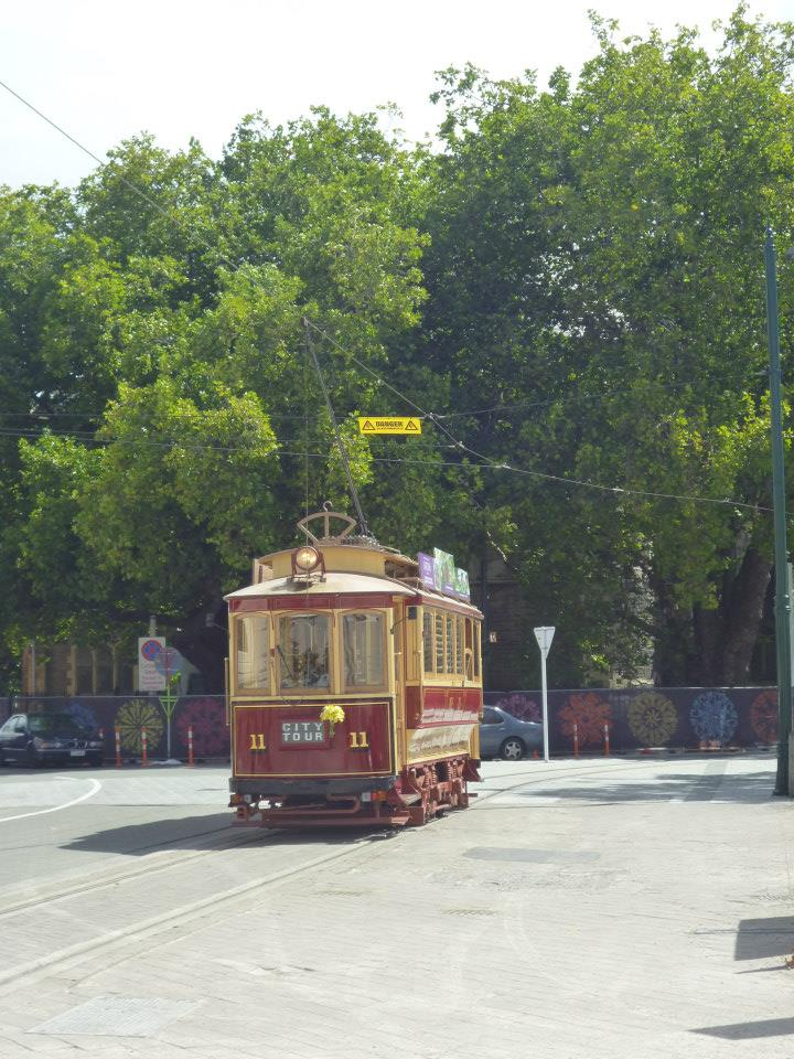 The Christchurch tramway, back in action
