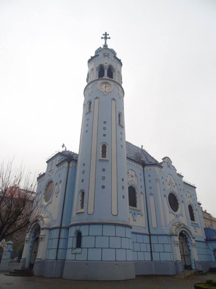 The church of St Elisabeth (the blue church)