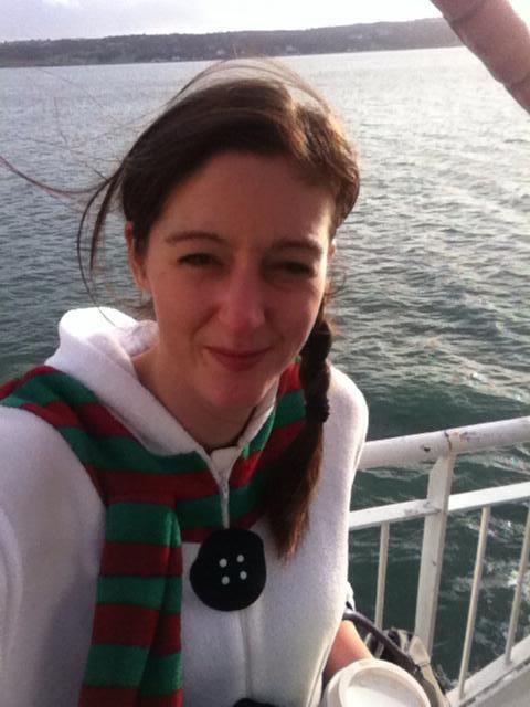 Snowman Selfie on the Cairnryan to Belfast Ferry