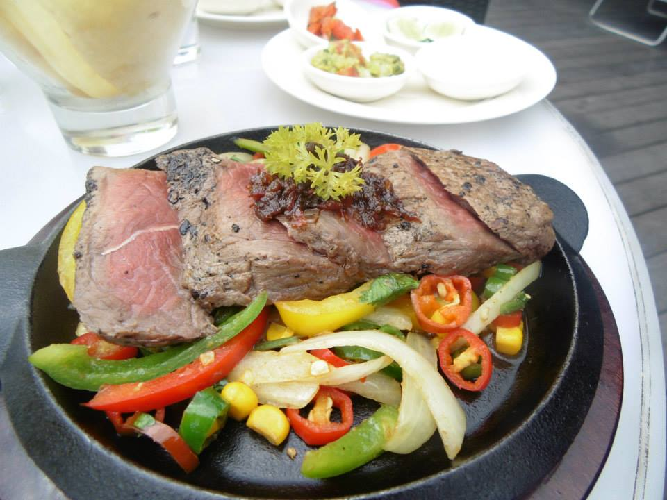 Fajitas at the Vanilla Sky Lounge, Grand Aston, Jogja