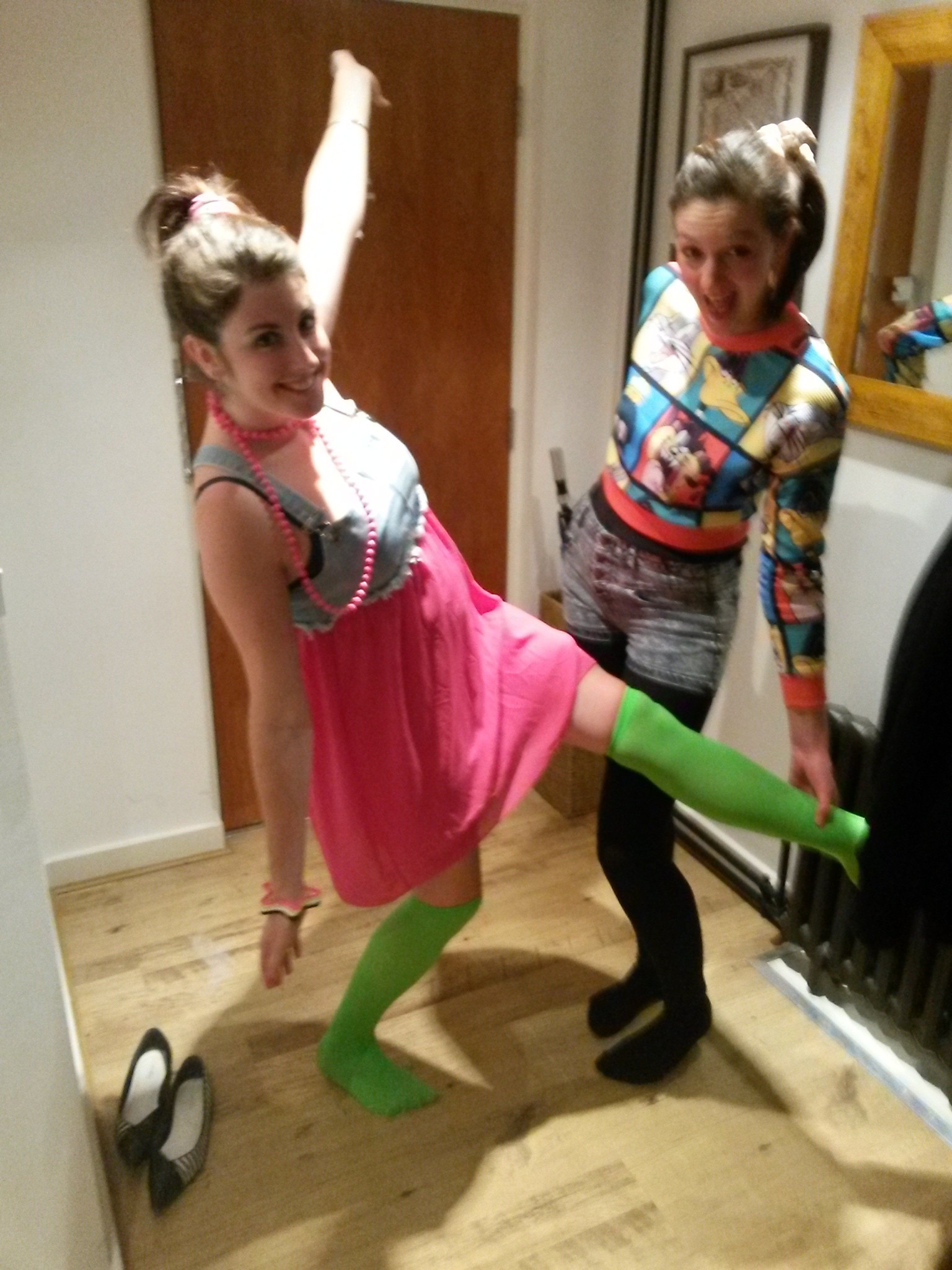 My friend and I, at the 80s themed party in our rented apartment