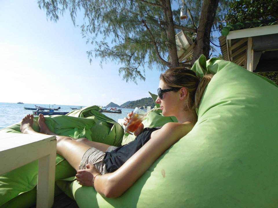 Relaxing with a cocktail on Koh Tao island, Thailand