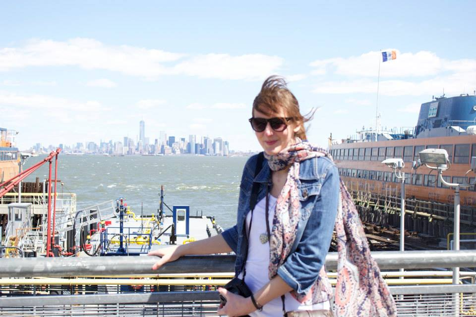 A little windswept on Staten Island, New York.