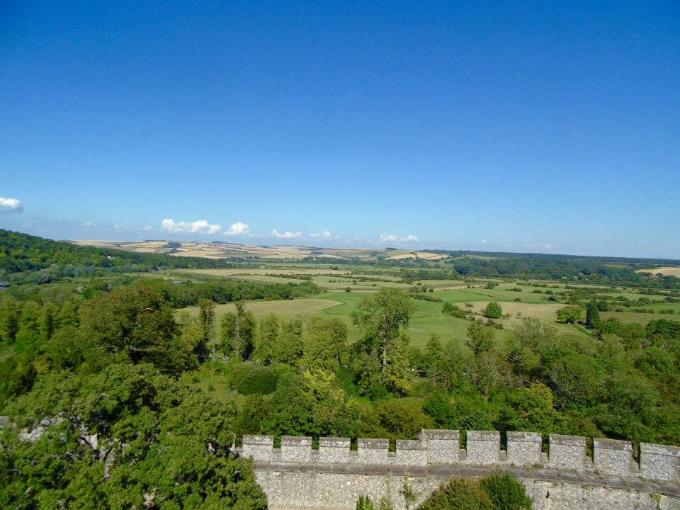 A view from Arundel Castle Keep