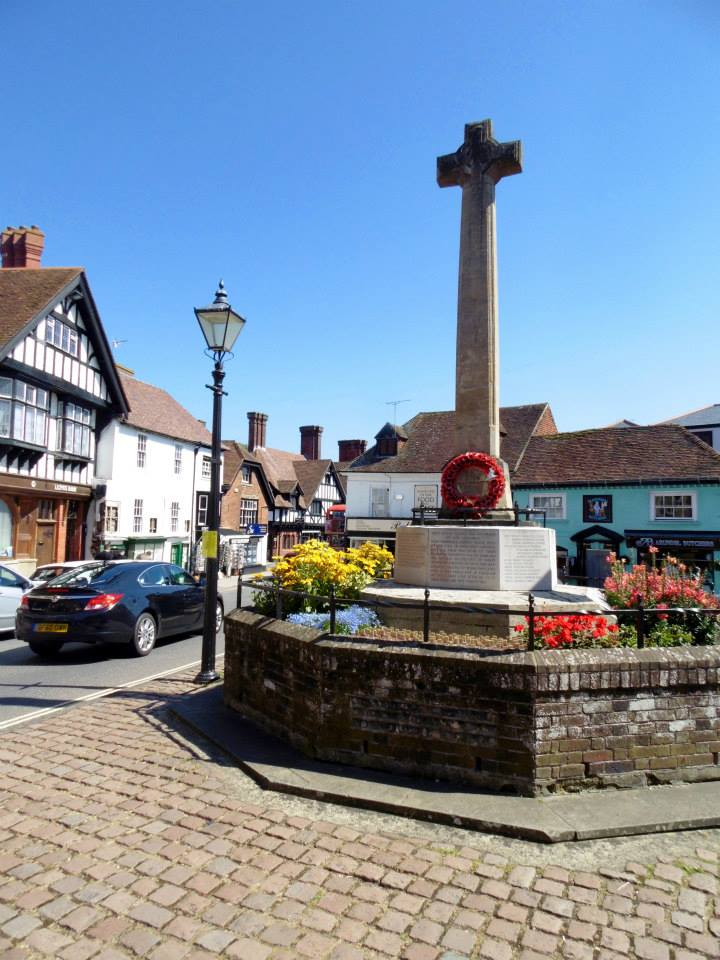 Part of the main street in Arundel, West Sussex.