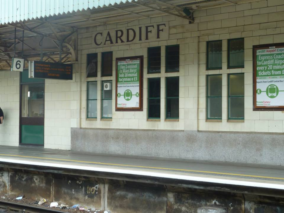 Cardiff train station in Wales