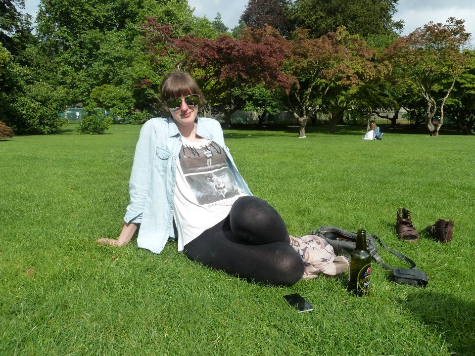 Relaxing in Bute Park in the summer of 2013. You would think you are miles away from civilisation in this place.