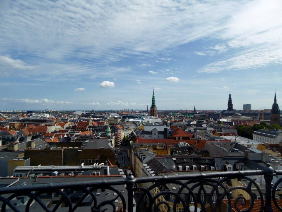 a view from the top of the round tower