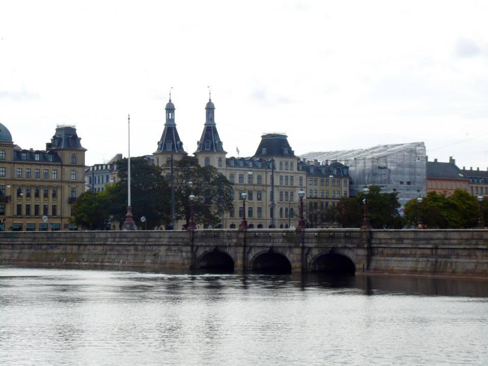 The Sortedam Sø (the lakes) in Copenhagen with the Queen Louise Bridge used to cross