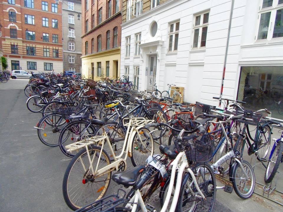 Bicycles in the neighbourhood of Nørrebro, Copenhagen