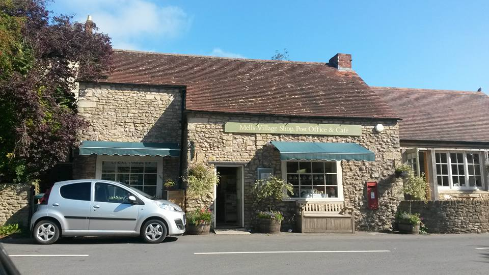 Mells post office and cafe, Somerset, England