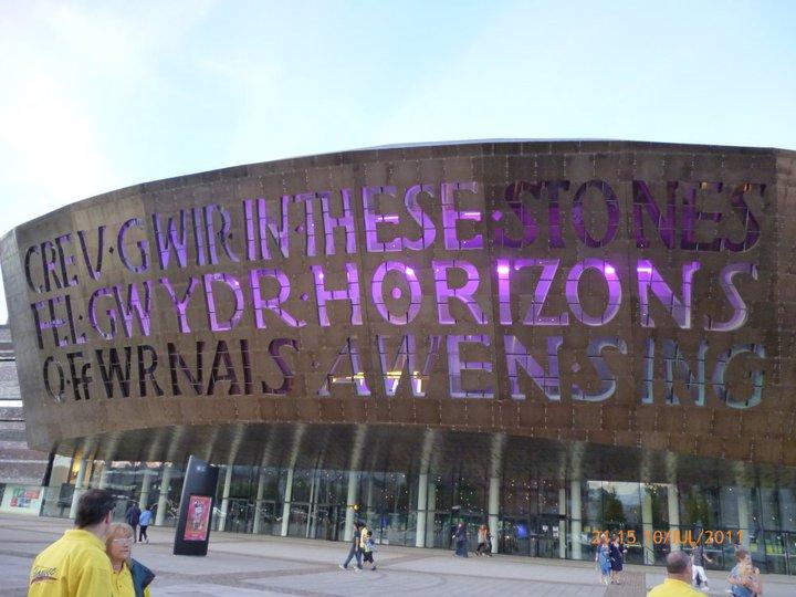The Canolfan Mileniwm Cymru /Wales Millennium Centre near Cardiff Bay