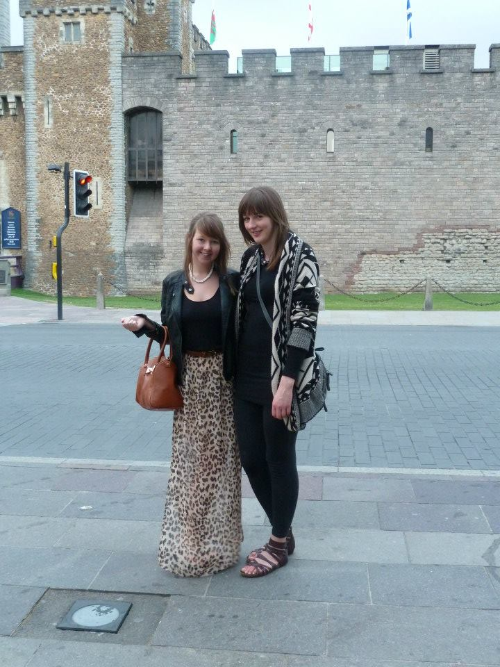 My sister and I outside Cardiff Castle back in 2013