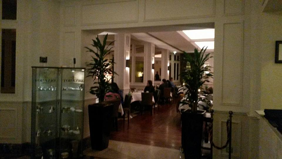 Entrance to the Astoria Restaurant at the Intercontinental Hotel in Porto
