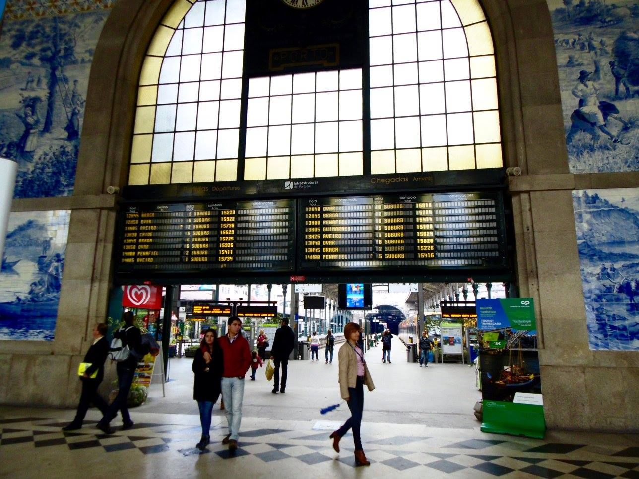 The Sao Bento train station. in Porto is possibly one of the most beautiful train stations in the World.
