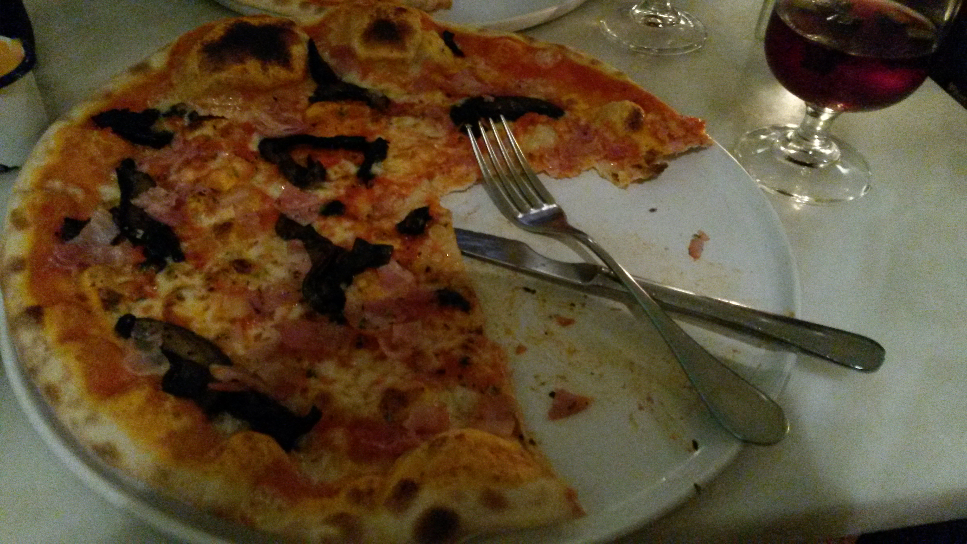 Pizza in Portugal - one of the many Italian eateries in the city of Lisbon