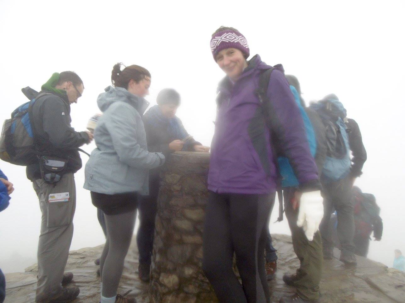 Exhausted, wet and with a lot of cloud around. I made it to the top of Snowdon, the highest mountain in Wales.