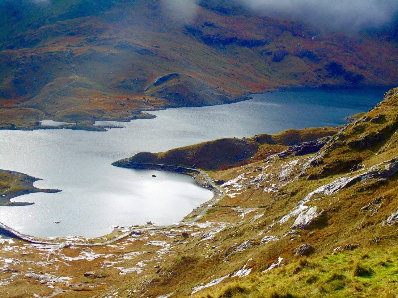 Llyn Llydaw, an incredible lake in Snowdon