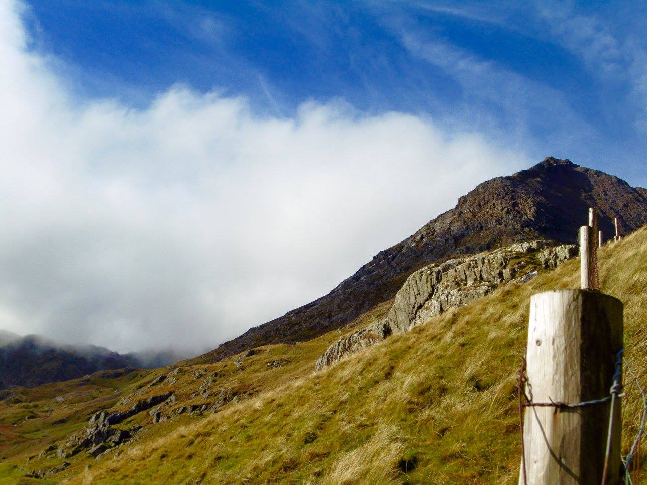 Crib Goch in Snowdon. The most challenging aspect of the mountain