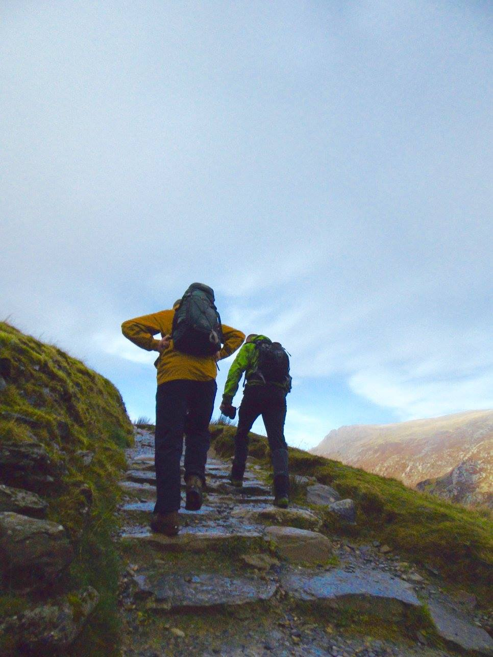 At the start of the Pyg track in Snowdon