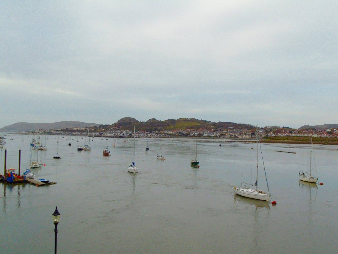 The waterfront in Conwy, Wales