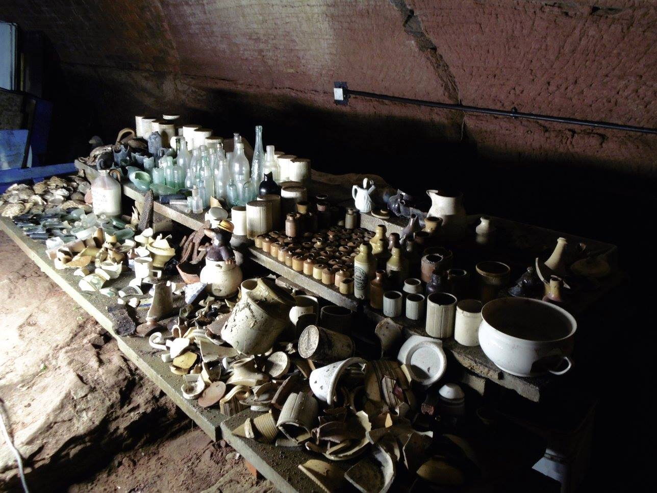 Artefacts found in Williamson's tunnels, Liverpool