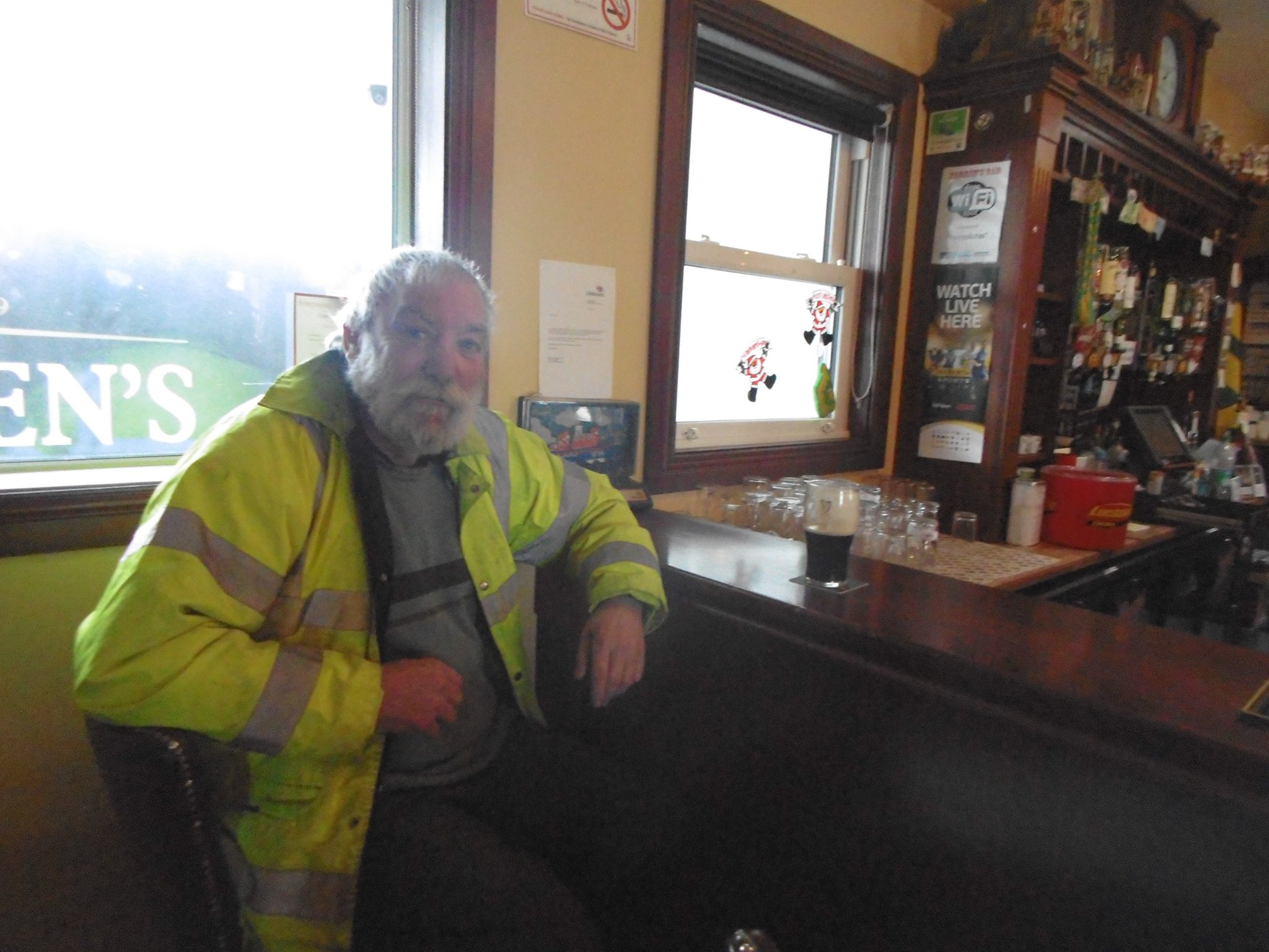 Bill, a regular local in Farren's bar, who when he saw my camera, asked for a photo.