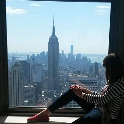 Looking out to the World from the Rockefeller Center in New York City, USA