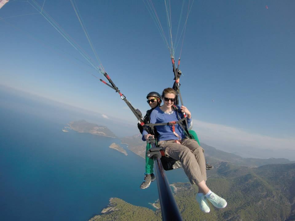 Paragliding in Fethiye, Turkey.