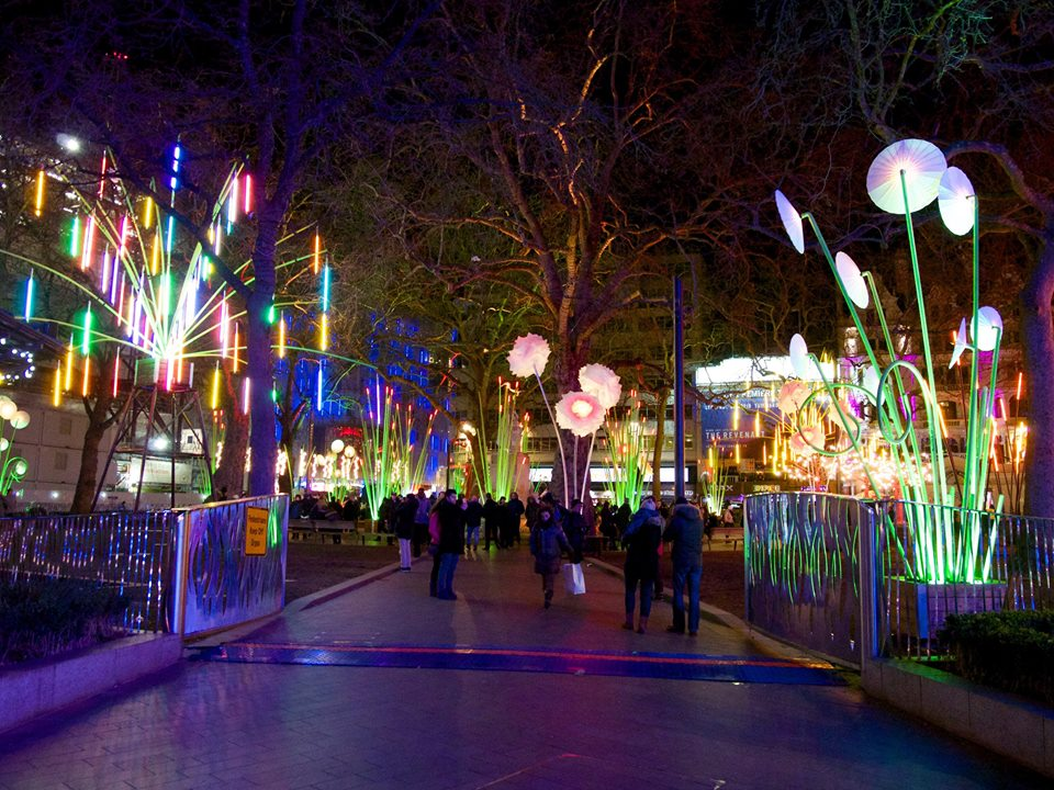 A garden of light in Leicester Square