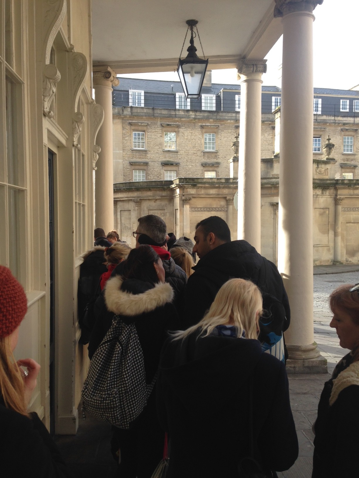 Queuing to get into the New Royal Bath at Thermae Bath Spa