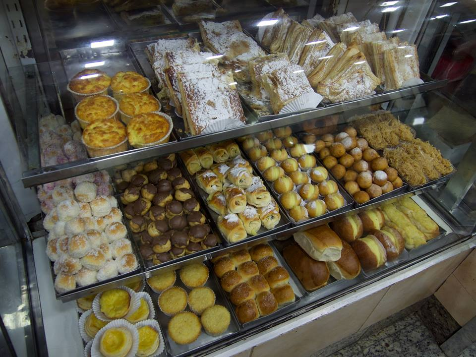 Sweet treats at the padaria santa tereza bakery in Sao Paulo