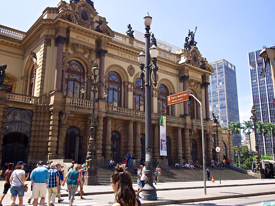 The Theatro Municipal (Municipal Theatre in Sao Paulo)