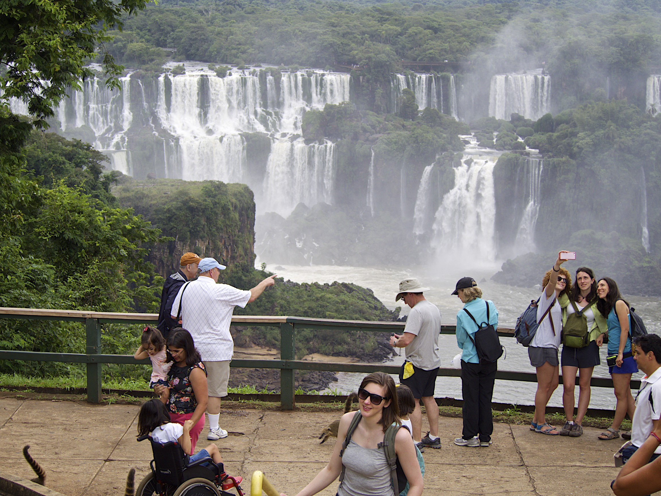 A first glimpse of the Iguacu Falls (Brazil side)