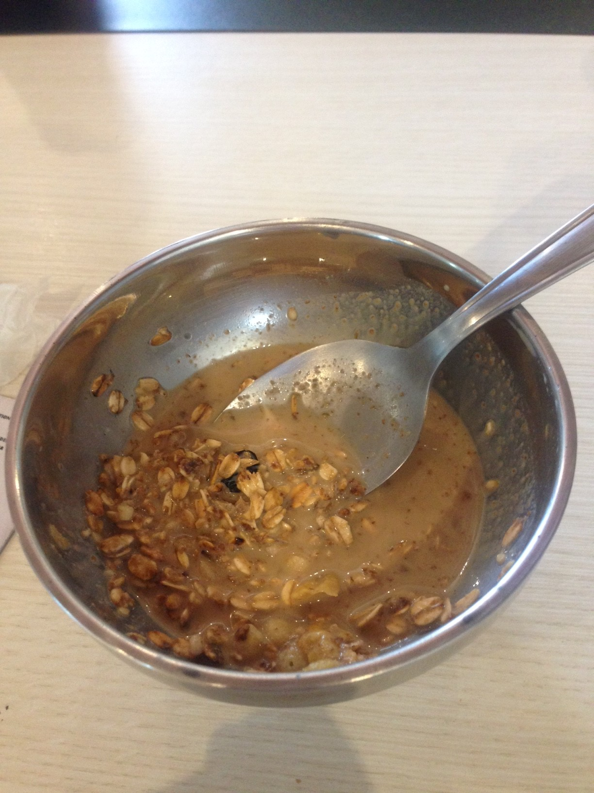 Granola cereal (which doesn't look that great, but was incredible!) as breakfast, as well as various fruits, cake, coffee/tea and toast