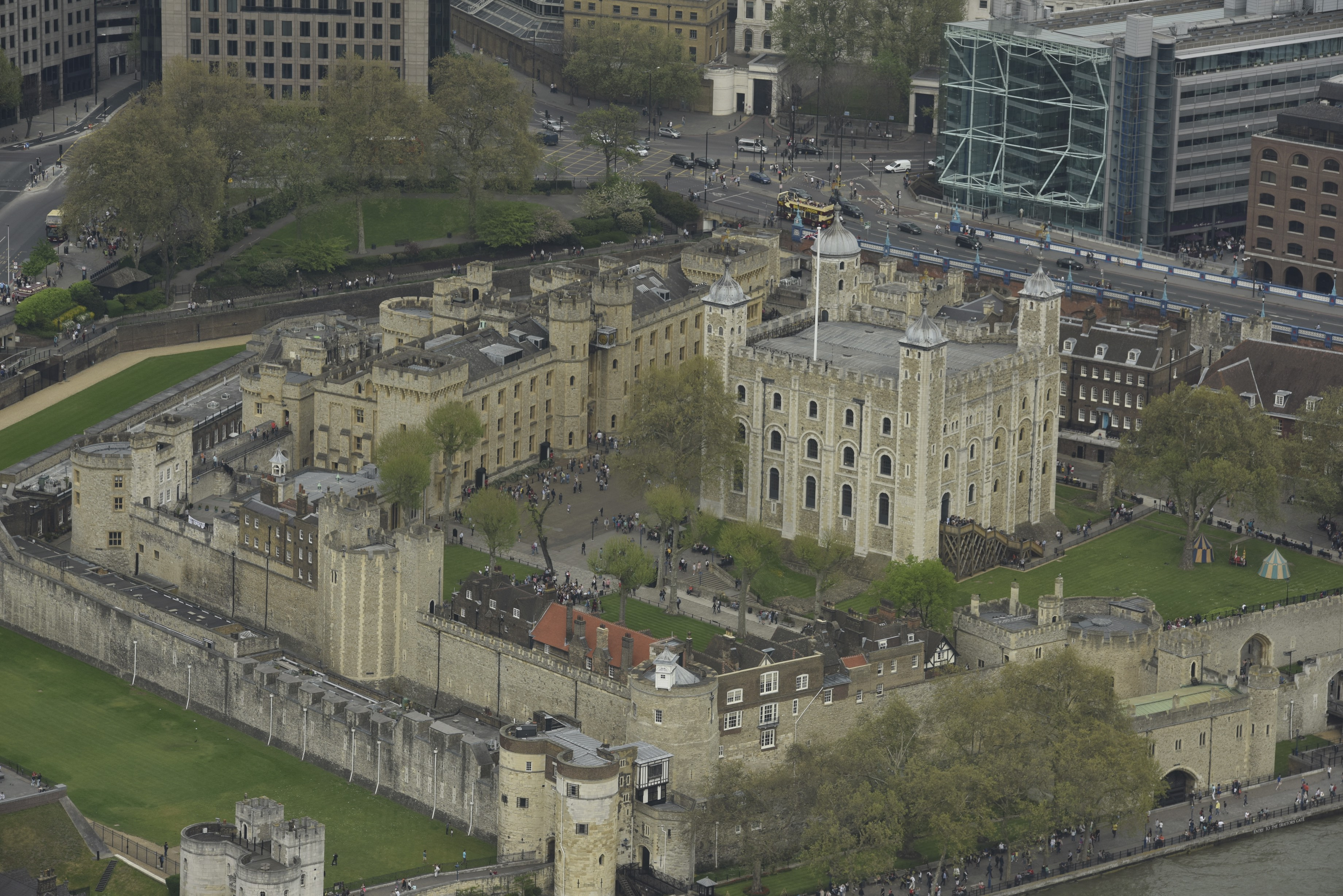 The Tower of London, viewed from the Shard