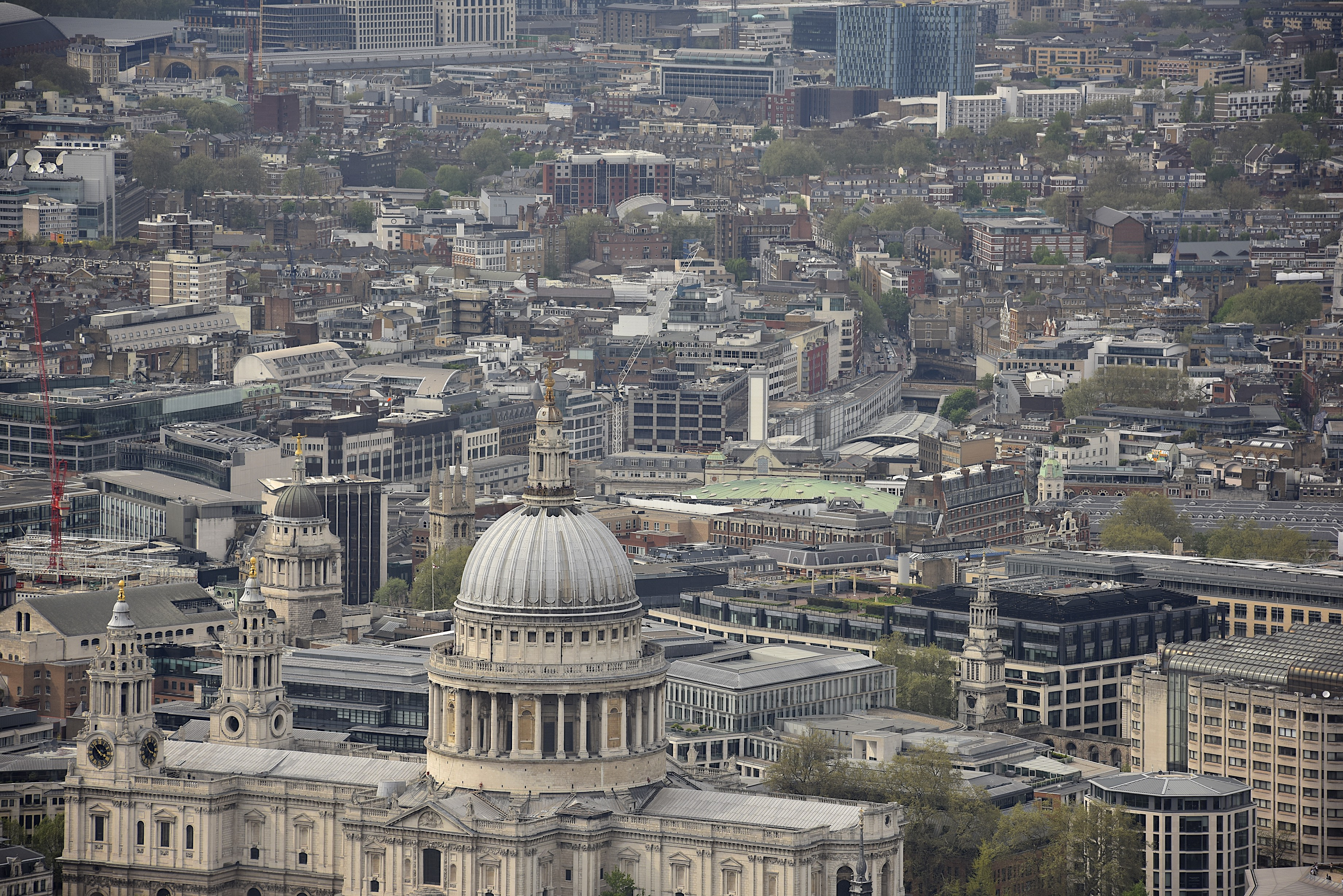 St Pauls Cathedral, as viewed from the Shard