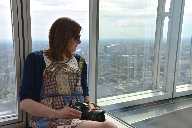 Reflecting at the top of the Shard (image credit)