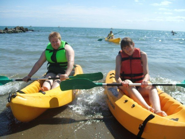 Kayaking in Italy with my sister in 2007 (just before my 21st birthday)