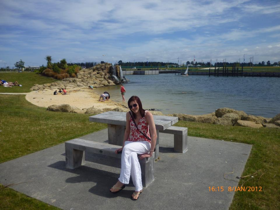 Enjoying the sunnier weather in new home of Christchurch, New Zealand (Jan 2012)