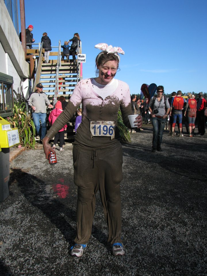 Getting muddy running in Christchurch, New Zealand