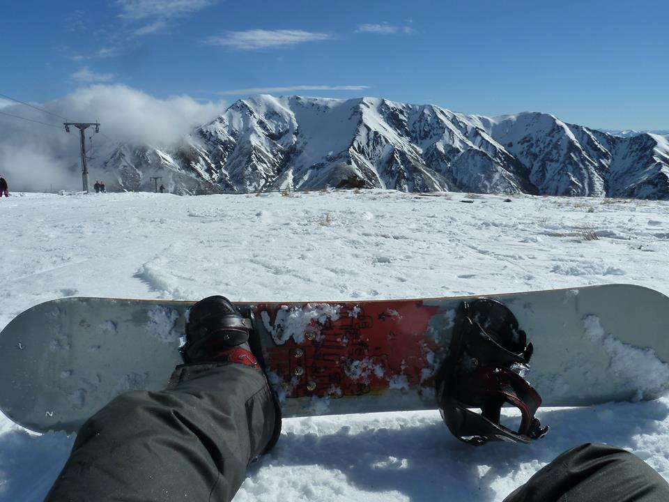 Teaching myself to Snowboard in Canterbury, New Zealand