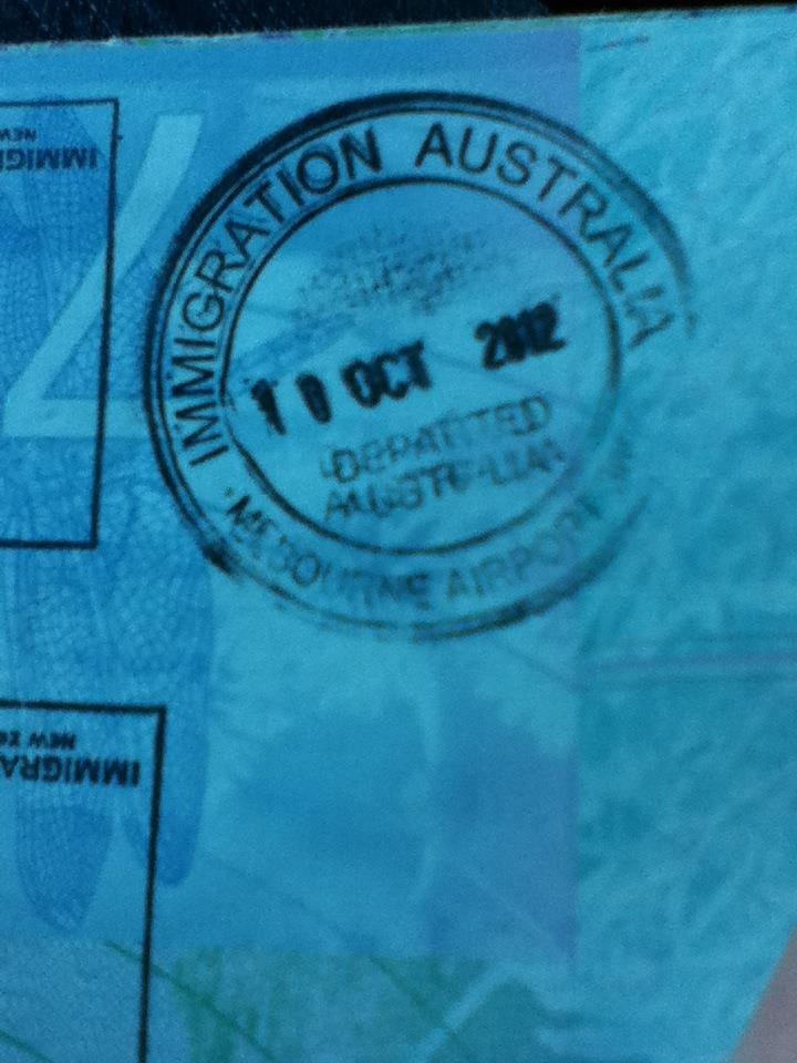Travelling for the first time on my birthday (October 2012 - Melbourne)