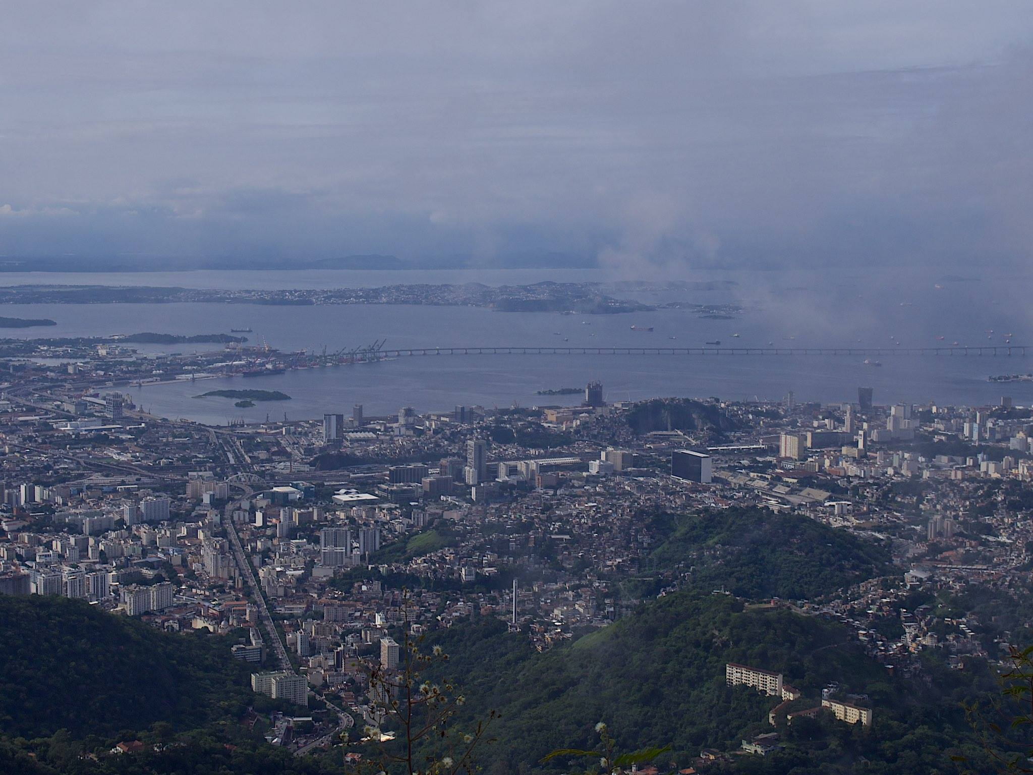 A view of Rio from Christ the Redeemer