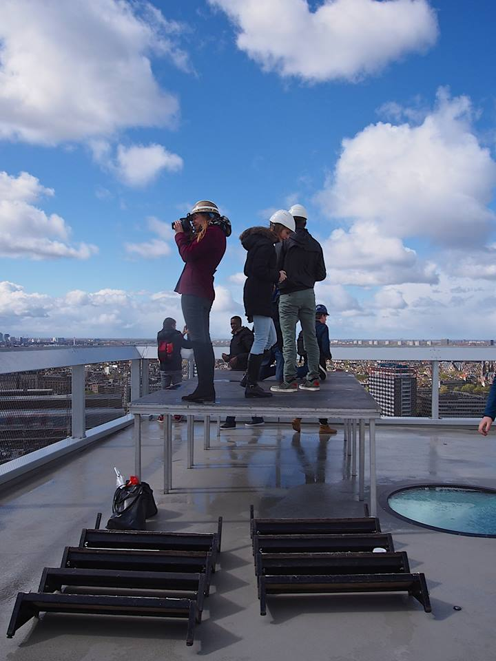 The Instagram Amsterdam meet up, getting a birds eye view of the city, from the A'DAM tower