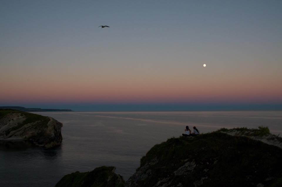 Sunset at Lulworth Cove
