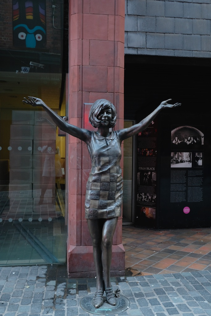 Surprise Surprise! Its Cilla Black - a statue to mark the 60th year of the Cavern Club.